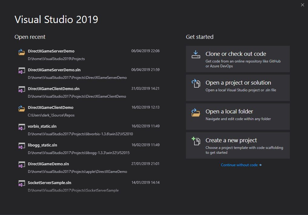 Visual Studio 2019触ってみた